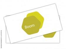 Cartão de Visita em Papel Textura Metalizado Ouro