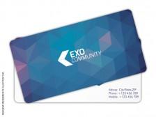 Cartão de Visita 4 Cantos Arredondados - Fosco + Verniz - 4x4 cores (COM VERSO)
